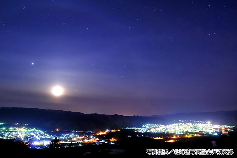 上金剛山展望台からの夜景
