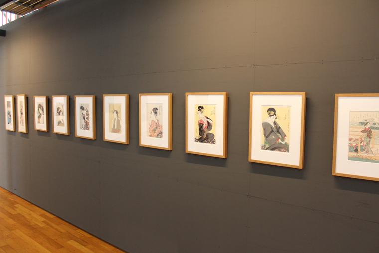 小林英一記念美術館内の浮世絵