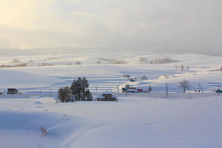 新城峠の冬