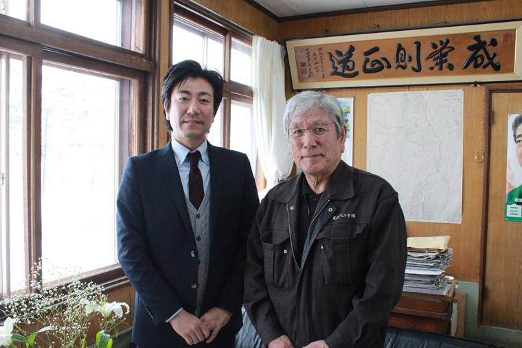 (左)滝澤ベニヤ専務取締役・滝澤貴弘さん。(右)滝澤ベニヤ代表取締役・滝澤量久さん。