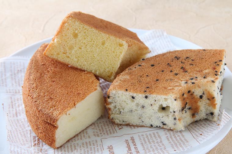 無添加で安心のおいしさの、ふわふわシフォンケーキ